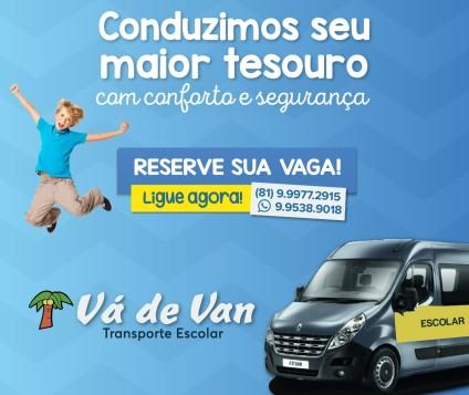 """""""Vá de Van"""" para escola, curso de inglês, aula de ballet, natação, vôlei e outros compromissos!"""
