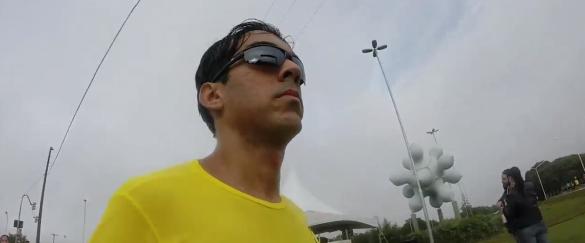 André correndo