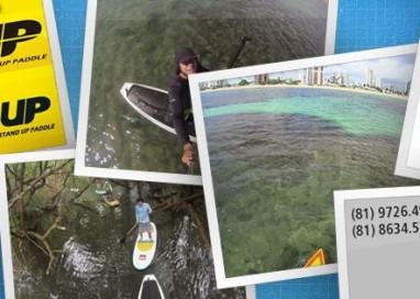 André Peixoto faz Stand Up Paddle pelas piscinas naturais de Porto de Galinhas-PE