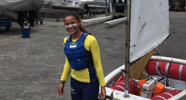 Optimist: velejadora do Cabanga é bicampeã brasileira no Espírito Santo