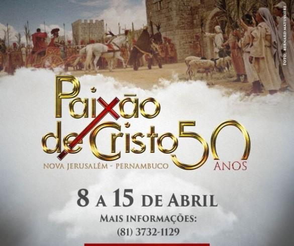 A Paixão de Cristo de Nova Jerusalém de 2017 marcará o 50º ano de apresentações consecutivas do maior e mais famoso espetáculo bíblico teatral do Brasil.