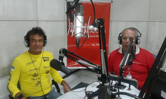 Após finalizar o grande desafio Paulo Galvão concede entrevista a Rádio CBN