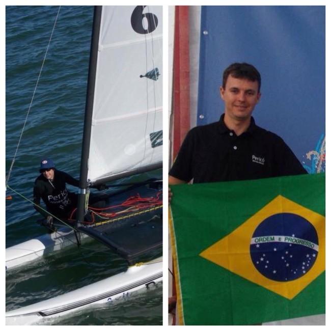 Adam Max Mayerle Campeão Brasileiro de Hobie Cat 14. Foto:Ana Paula Mayerle