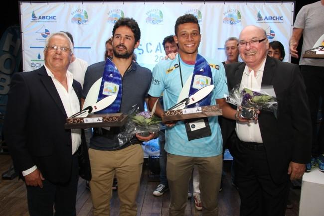 Campeões Brasileiros Felipe Frey e Ícaro da Macena na Classe Hobie Cat 16