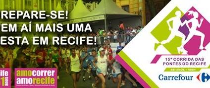 15 Corrida das Pontes do Recife será realizada no dia 25 de Março no Forte do Brum – 7h