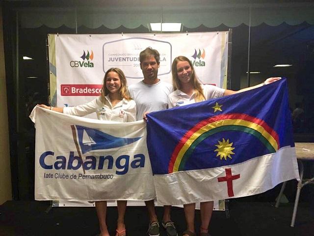 Marina da Fonte, velejadora do Cabanga Pernambuco, conquista resultado histórico no Brasileiro da Juventude