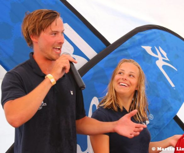Nicolaj BJØRNHOLT with crew Naja BJØRNHOLT won the Hobie Cat European Championship 16 of 2018 in July. Congratulations!