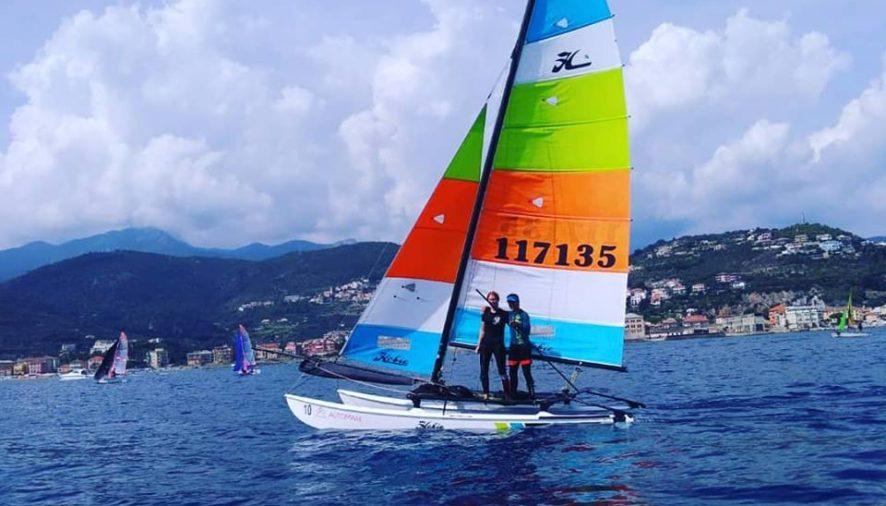 Carlo Centrone e Diana Passoni sono i nuovi Campioni Italiani Hobie Cat 16 SPI 2018