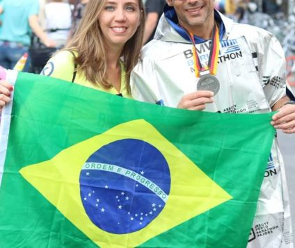 Congratulations to the beautiful couple Fábio and Rafaela Carrilho for the example of union for sport in the Berlin Marathon 2018