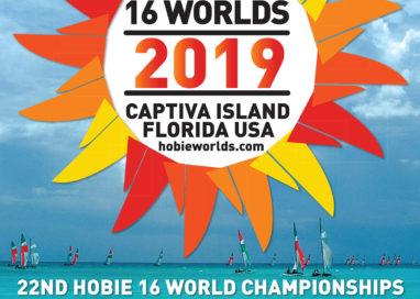 22º Campeonato Mundial de Hobie Cat 16 será realizado de 1º de novembro a 16 de novembro de 2019, em Captiva Island, Flórida, EUA.