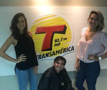 Raisa Botler e Cecilia Marcon fizeram o Programa Transamérica Ação e Aventura bombar na sexta-feira dia 30 de novembro! Audiência Explodiu! PARABÉNS!