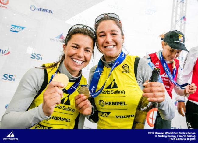 Brasil conquistou duas medalhas de ouro em Gênova na Copa do Mundo da World Sailing (Federação Internacional de Vela)