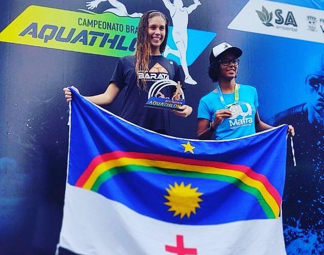 Pernambucana Carolline Gomes fez bonito e sagrou-se Campeã Brasileira de Aquathlon em Vitória-ES.