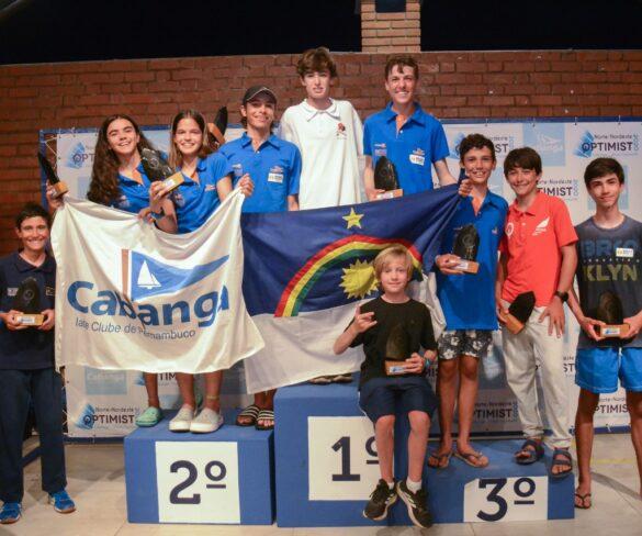Júlio César Avellar(Veterano Masculino), Valentina Roma(Veterano Feminino) e Bárbara Dubeux (Estreante) são os Campeões do Norte/Nordeste de Optimist 2020