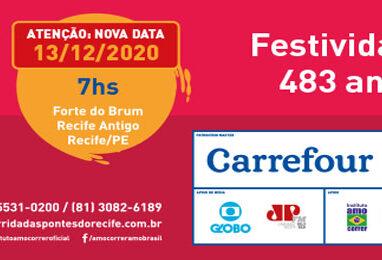 17.ª Edição da Corrida das Pontes do Recife será realizada no dia 13 de Dezembro de 2020