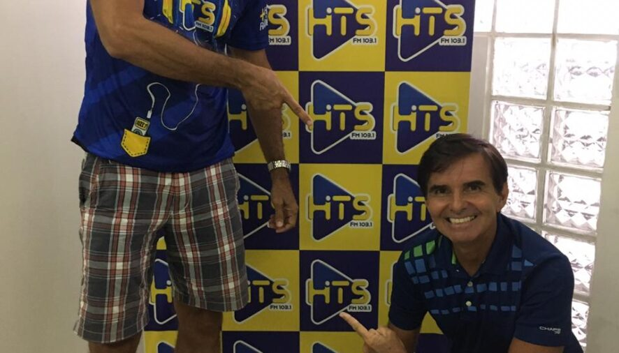 Programa Hits Ação e Aventura contando com a presença do campeão de vôlei de praia Lula do Vôlei foi uma bela sacada!