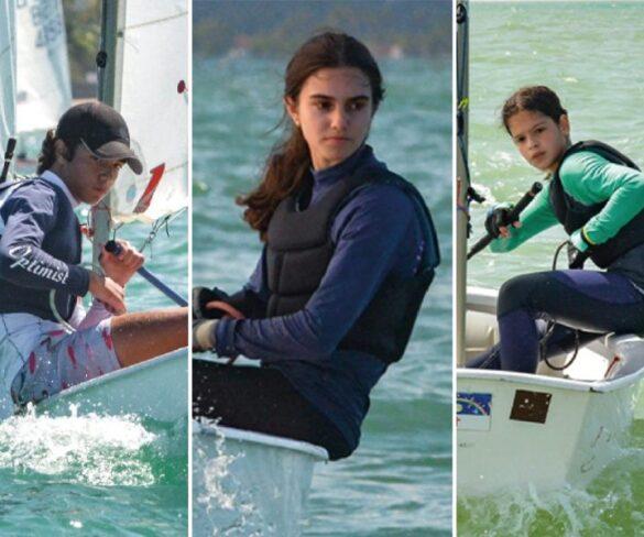 Júlio Cézar Avellar(geral), Valentina Roma(feminino) e Bárbara Dubeux(estreante) são os Campeões do Pernambucano de Optimist 2020